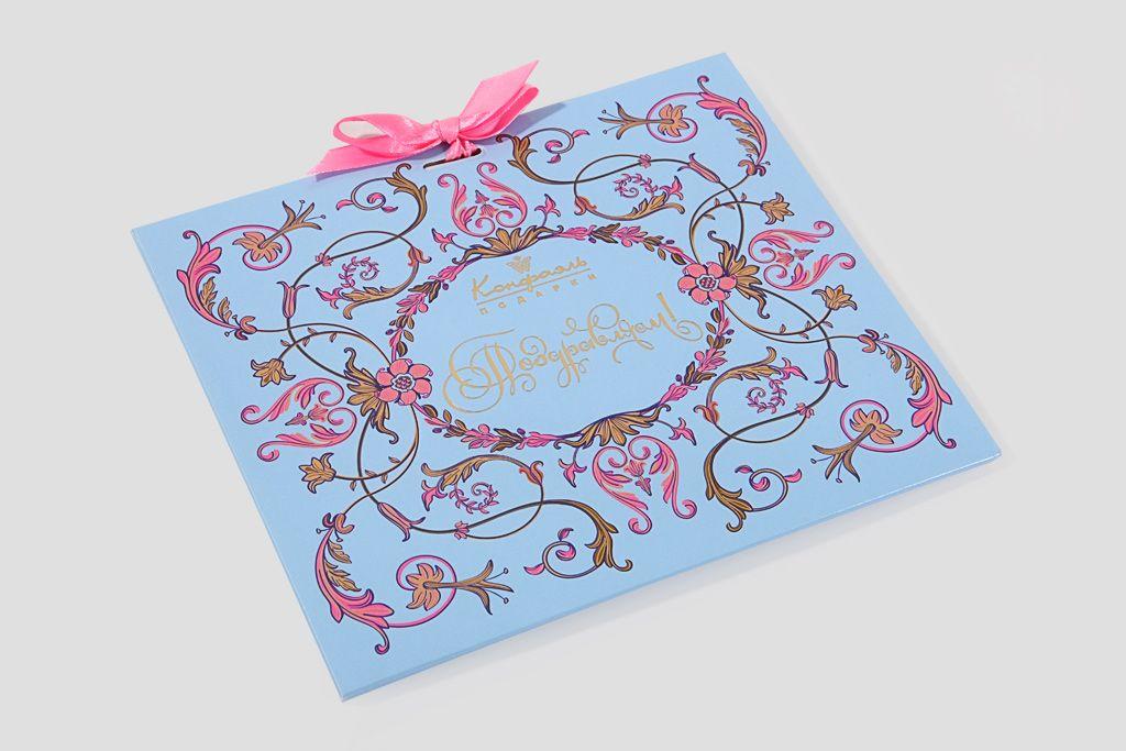 Шоколадная открытка «Поздравительная» фото