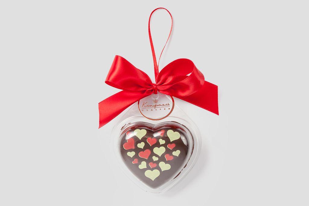 Шоколадное сердце фото