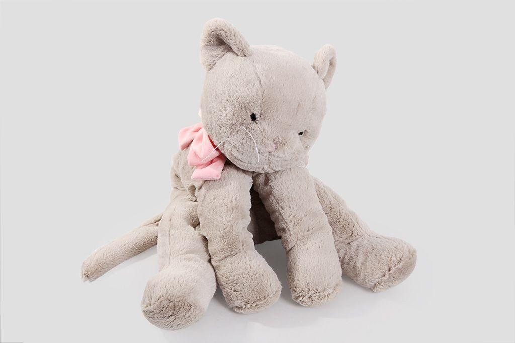 """Мягкая игрушка Lapkin """"Кот"""" (серый/роз.), 60 см фото"""
