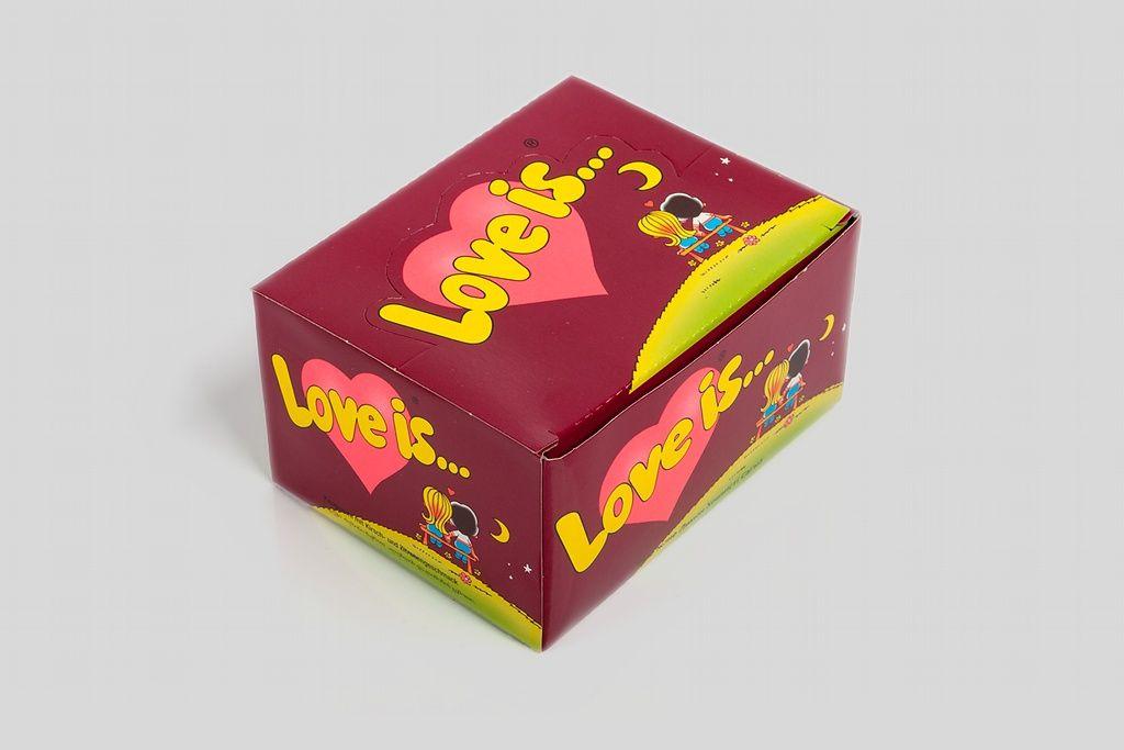 Блок жвачек Love is — «Вишня-Лимон» фото