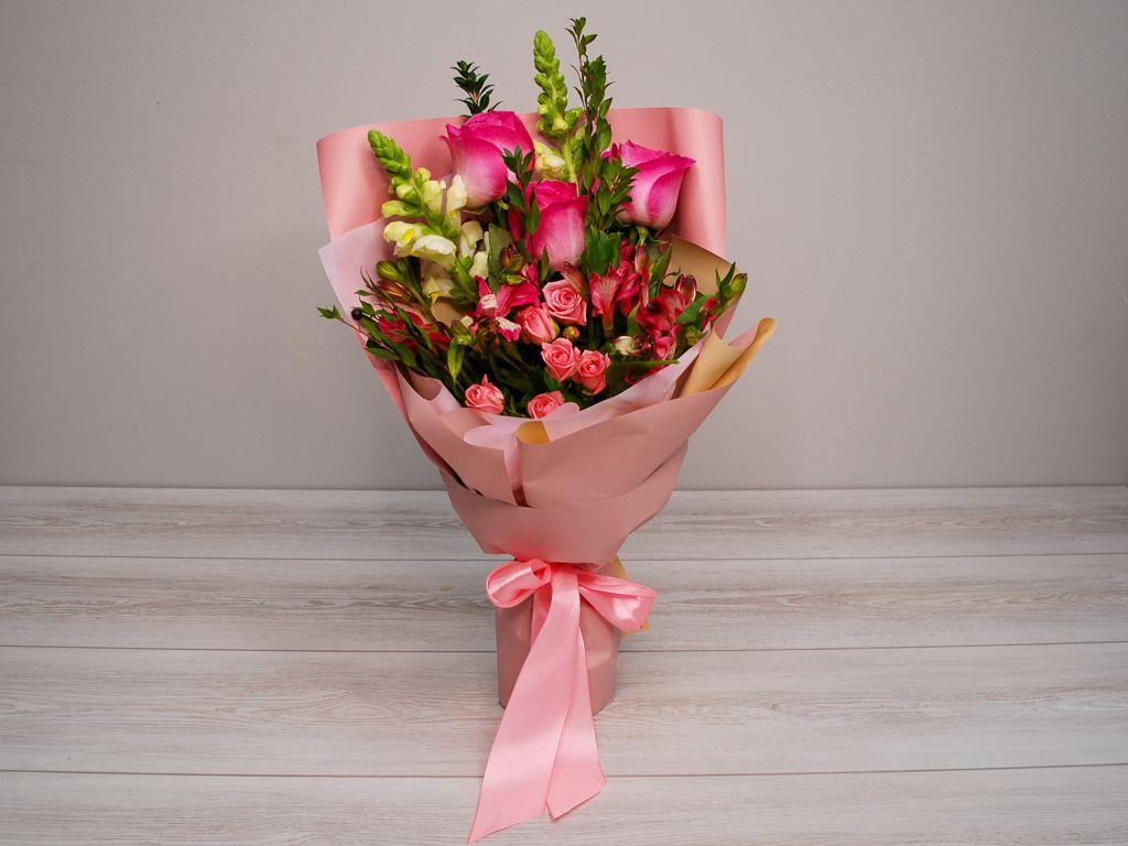 Букет Розовая заря фото