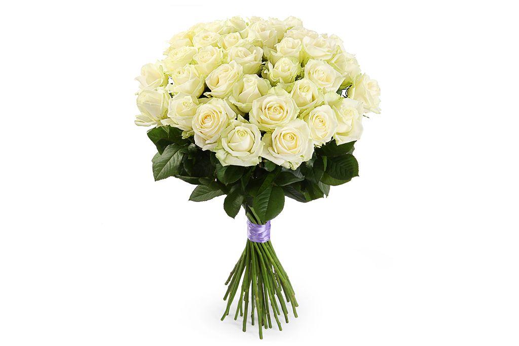 Букет 35 роз Аваланш 60/70 см фото