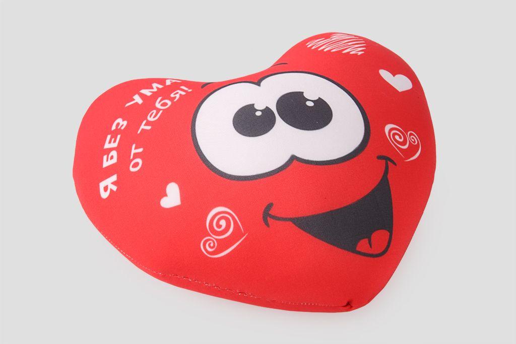 Подушка-сердце «Я без ума от тебя» фото