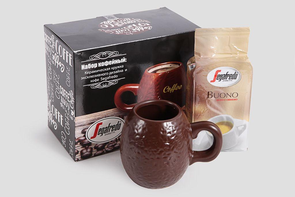 """Кофейный набор """"Segafredo"""" с керамической кружкой фото"""