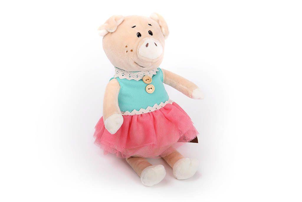 Свинка в голубом платьице, 21 см фото