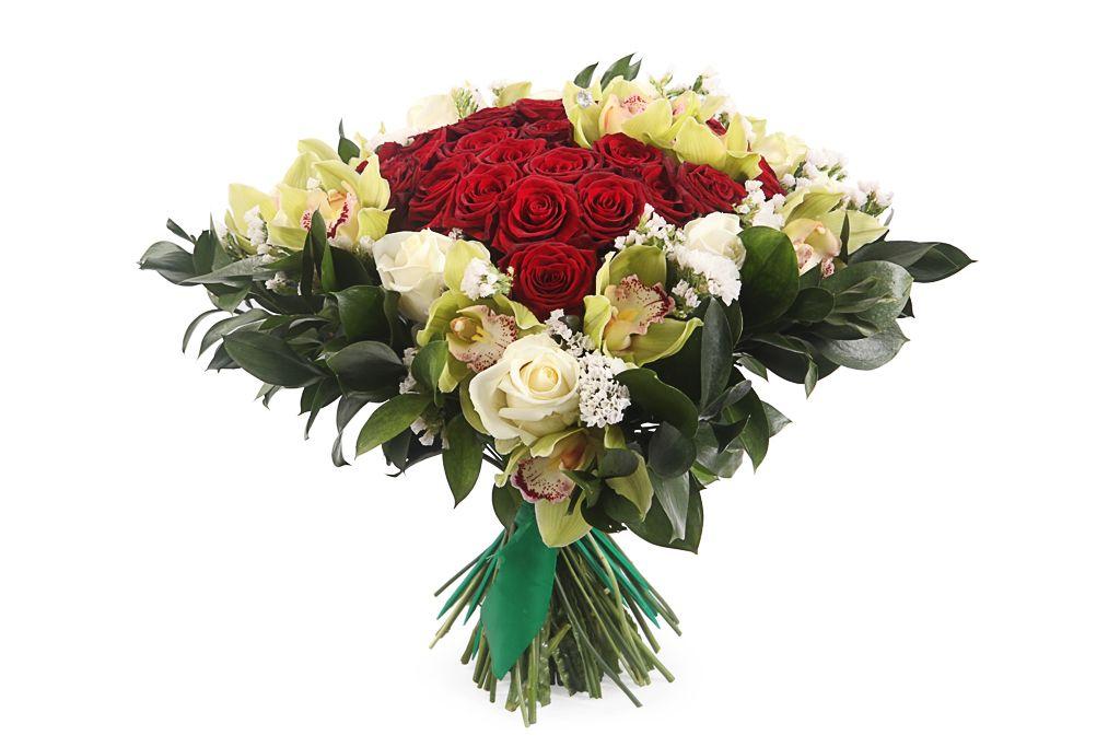 Букет с орхидеями Великая любовь фото
