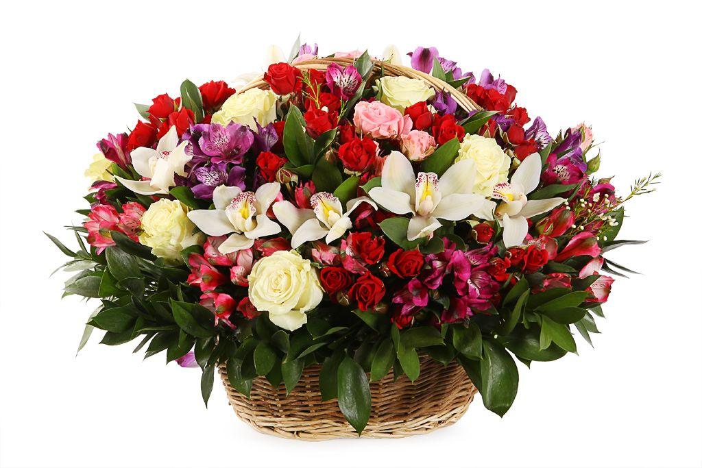 Букет Море любви (орхидеи, розы, альстромерии) фото