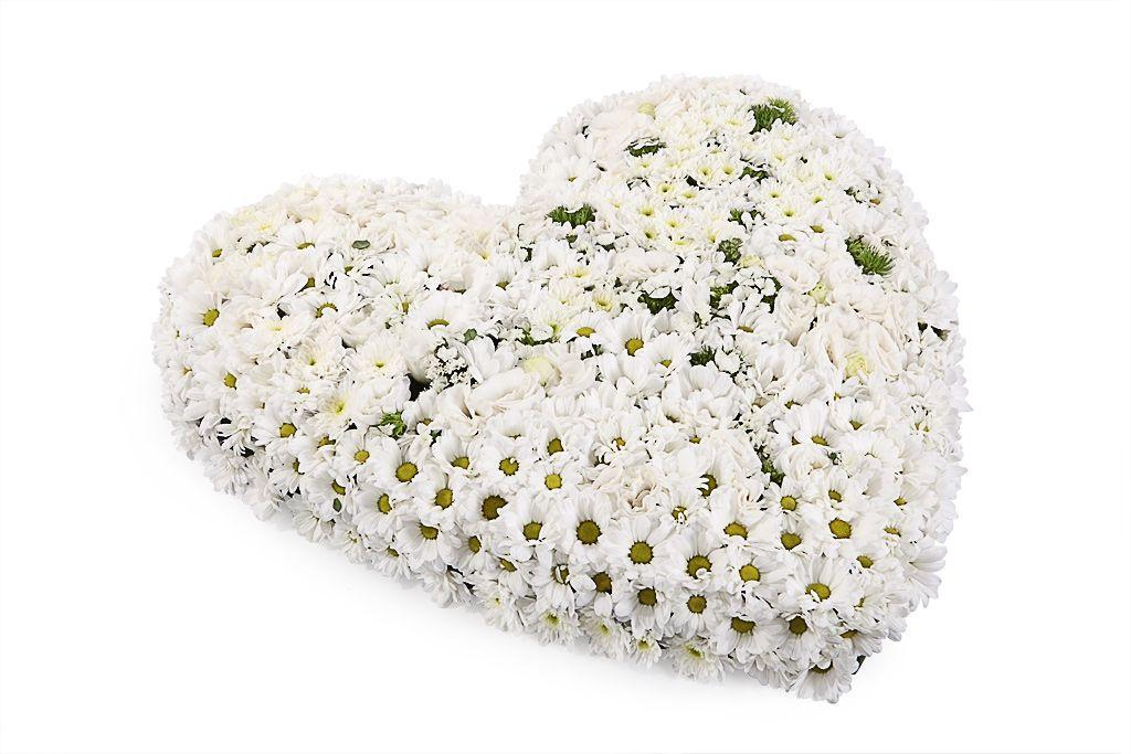 Букет Сердце хризантемы фото