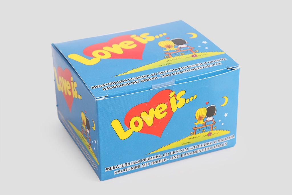 Жевательная резинка «Love is» клубника-банан, mini фото