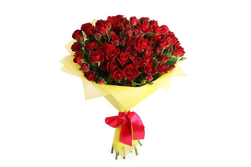Букет 15 кустовых роз Мирабель фото