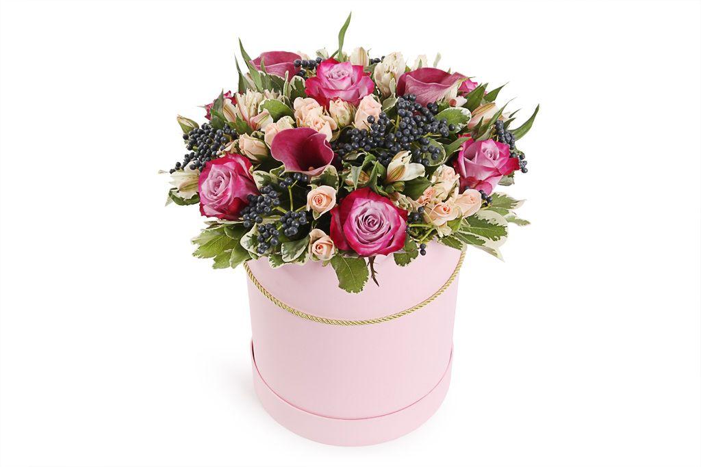букеты в коробке из живых цветов фото доме царила благоприятная