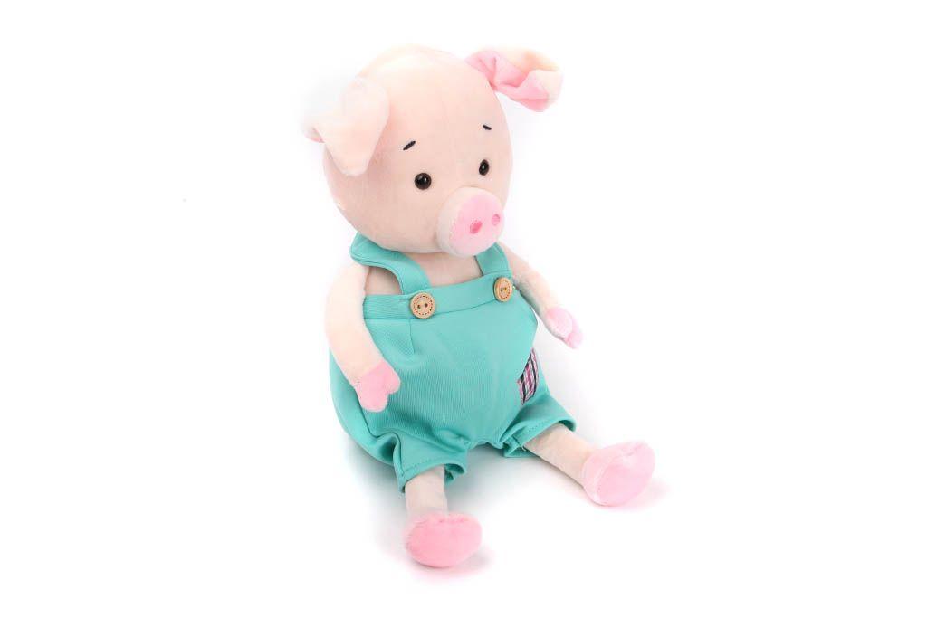 Свинка в голубом комбинезоне, 27 см фото