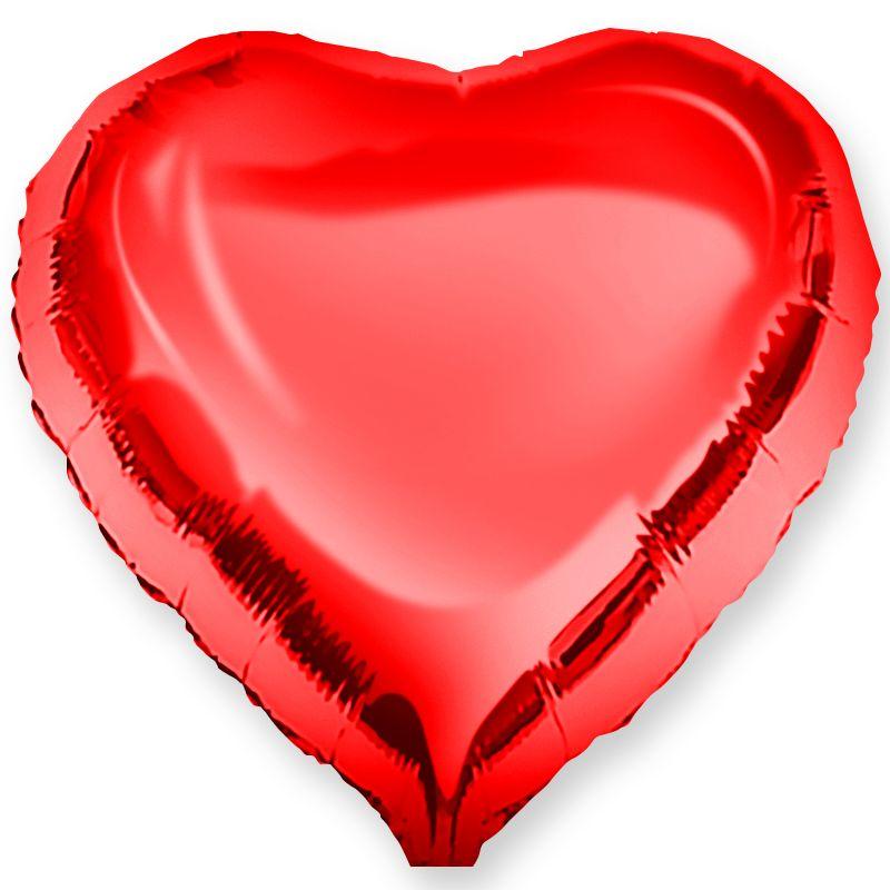 """Воздушный шар """"Красное сердце"""" фото"""