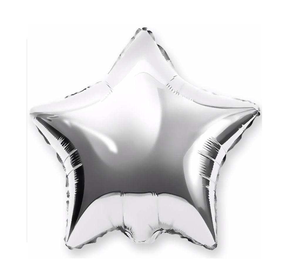 """Воздушный шар """"Серебряная звезда"""", фольга фото"""