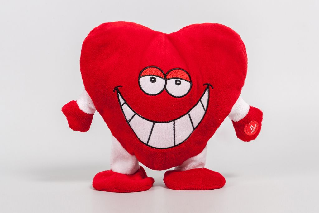 """Мягкая игрушка """"Сердце с улыбкой"""" фото"""