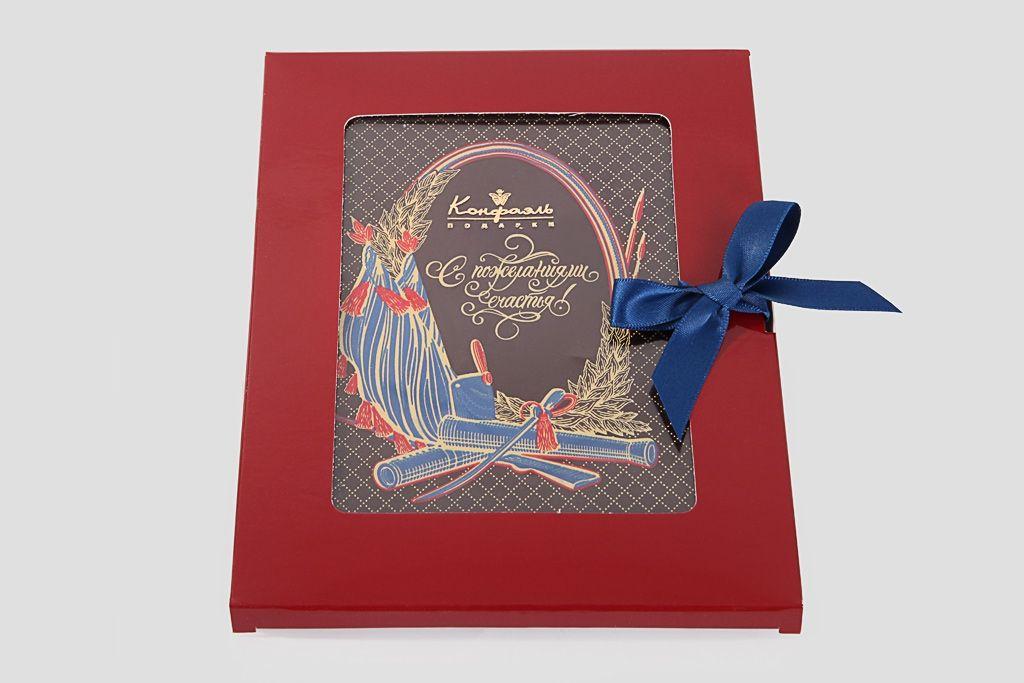 """Шоколадная открытка """"Пожелания счастья"""" фото"""