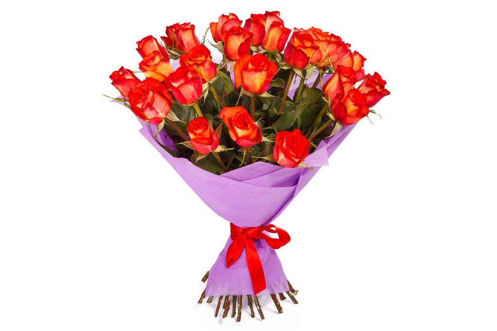 Букет 29 роз Хай Орандж фото