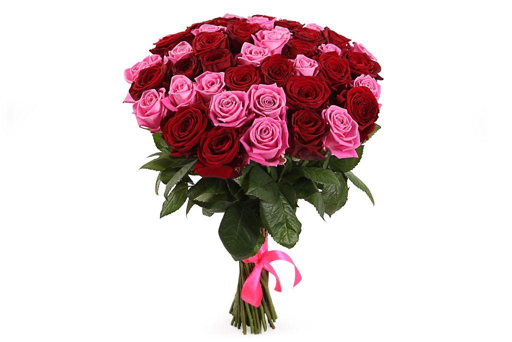 Букет Страсть и нежность, 51 роза фото