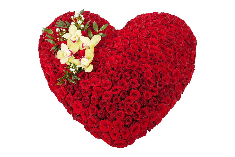 Букет Сердце из роз Премиум фото