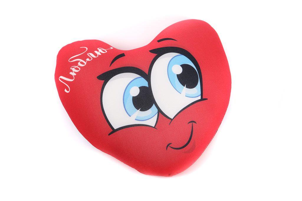 Подушка-антистресс «Люблю» (с крыльями) фото