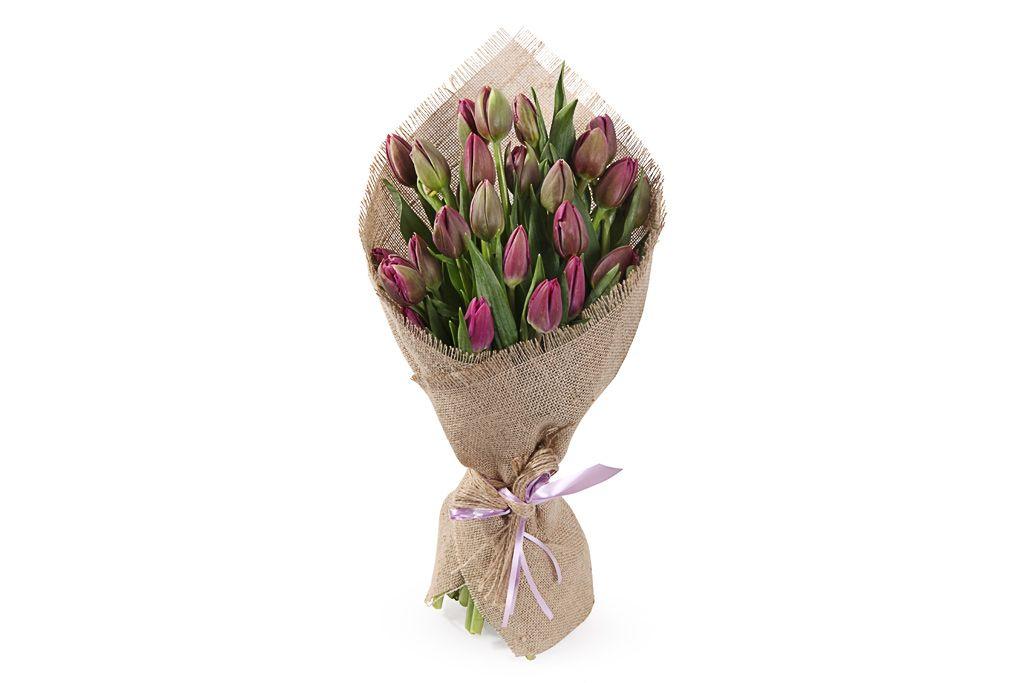 Букет Олд фэшн (фиолетовые тюльпаны) фото