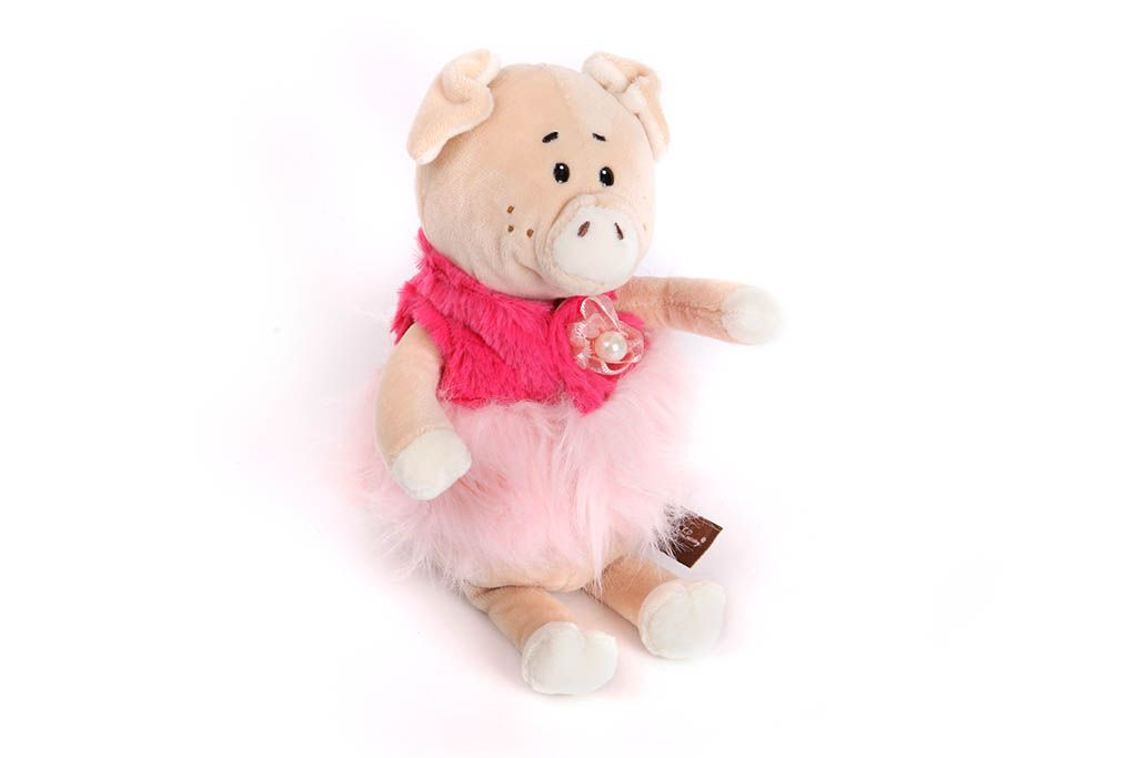 Свинка в розовой юбке, 21 см фото