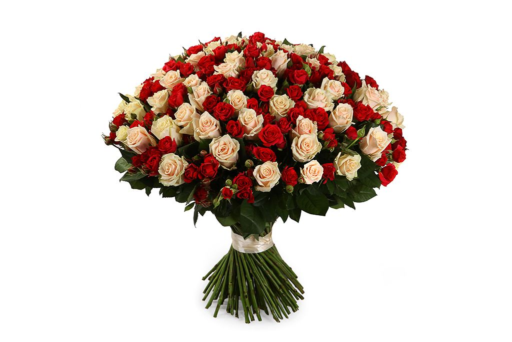 Букет Магдалина, 101 роза микс фото