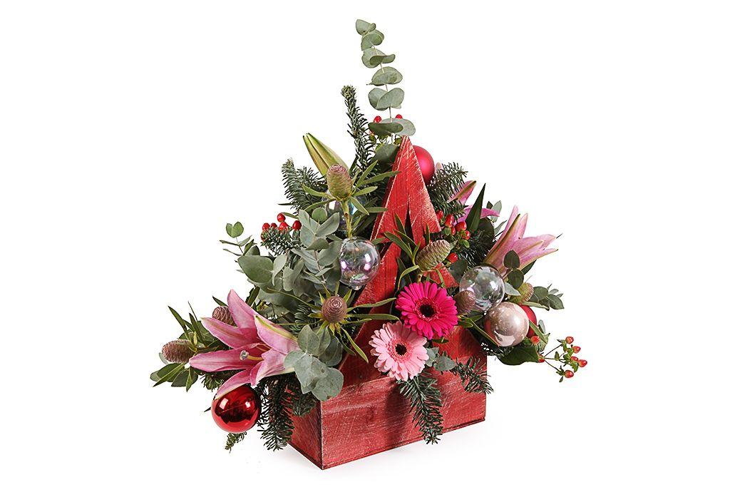 Букет с лилиями Праздничные огоньки фото