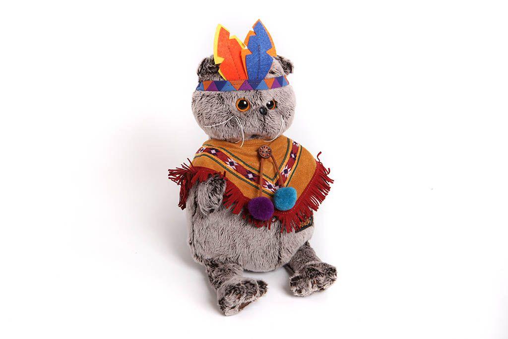 Кот Басик в костюме индейца фото