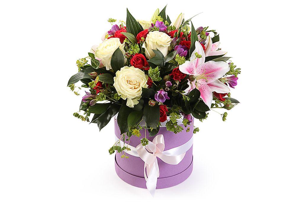 Букет с лилиями Дорога любви фото