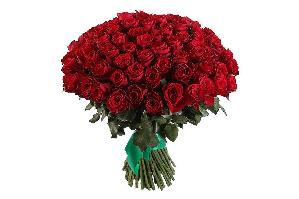 Букет 101 роза Хартс фото