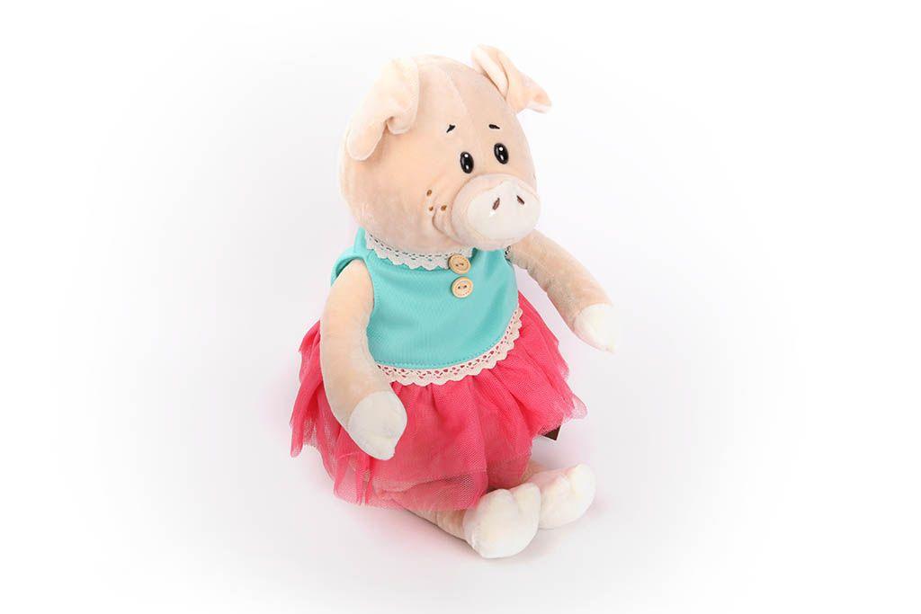 Свинка в голубом платьице, 28 см фото