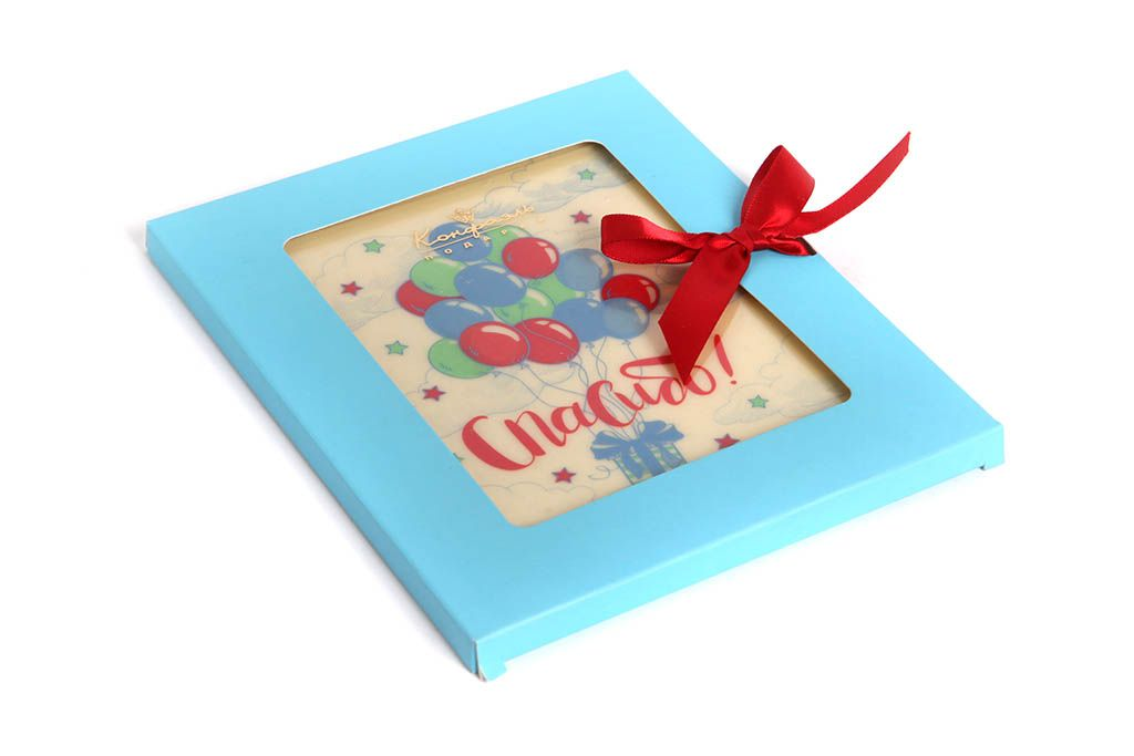 Сделать самим шоколадные открытки