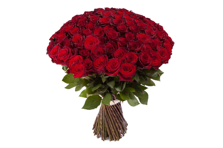 Букет из 101 красной розы Ред Париж фото