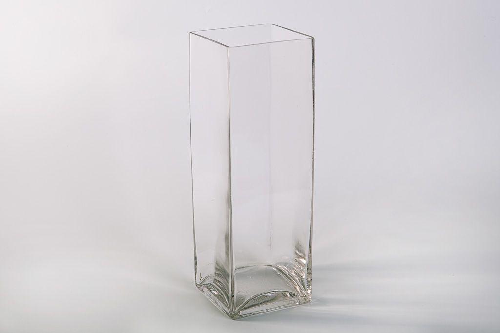 Прямоугольная ваза, 30 см фото