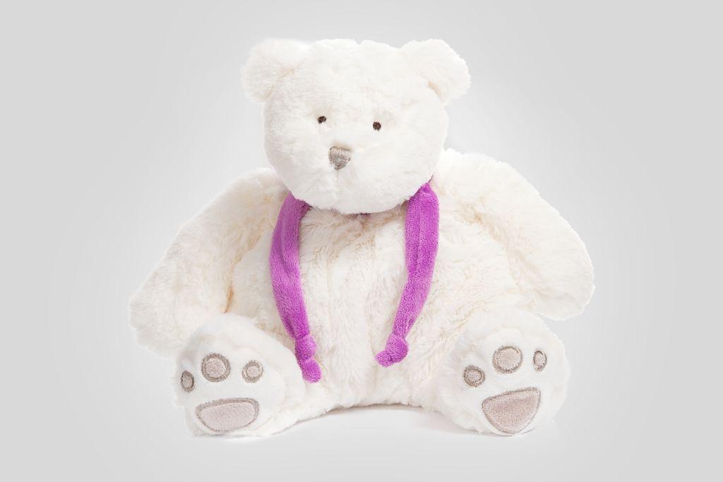 Медвежонок белый, 30 см фото